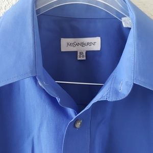 Yves saint Laurent men's button up dress shirt